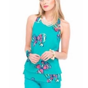 Lilly Pulitzer Maris Floral Halter Top Size Large